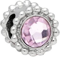 Oceľový prívesok Drops Crystal Light Pink SCZ773