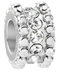 Oceľový prívesok Drops White Crystals SCZ705