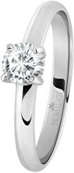 Oceľový prsteň s kryštálom Love Rings SNA42