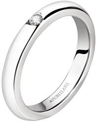 Oceľový prsteň s kryštálom Love Rings SNA46
