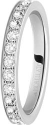 Oceľový prsteň s kryštálmi Love Rings SNA41