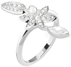Oceľový prsteň s kvetinou Natura SAHL17