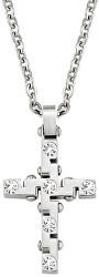 Pánský náhrdelník s křížem Motown SAEV03 (řetízek, přívěsek)