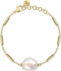 Pozlátený oceľový náramok s pravou perlou Oriente SARI07