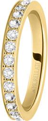 Pozlacený prsten s krystaly Love Rings SNA39