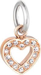 Oceľový prívesok Drops Charms Heart SCZ617