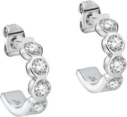 Půlkruhové náušnice s krystaly Cerchi SAKM36