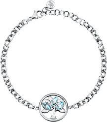 Půvabný ocelový náramek s krystaly Strom života Vita SAUD04