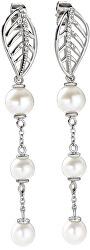 Romantické náušnice s pravými perlami Foglia SAKH14