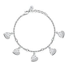 Romantický ocelový náramek s krystaly Passioni SAUN11