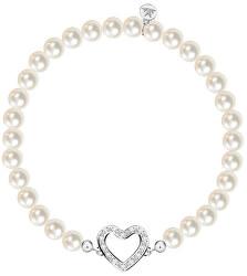 Romantický náramok z pravých perál Srdce Gioia SAER41