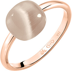 Růžově zlacený prsten Gemma SAKK87