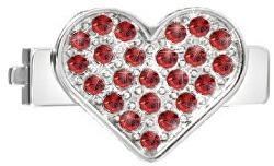 Srdíčko s červenými krystaly na náramky Sensazioni SAJT06