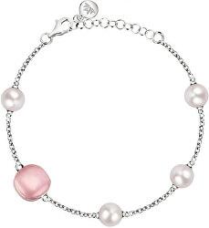 Strieborný náramok s perlami Gemma Perla SATC09