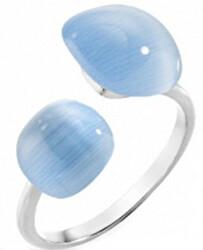 Strieborný prsteň zdobený mačacím okom Gemma SAKK16