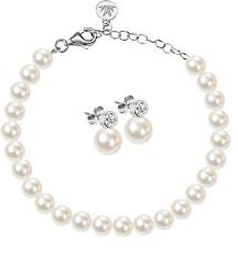 Zvýhodněná stříbrná sada šperků Perla SANH04, SANH06 (náramek, náušnice)