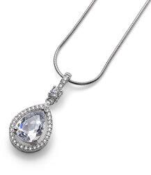 Luxusní stříbrný náhrdelník State 61151 WHI (řetízek, přívěsek)