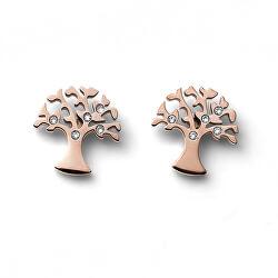 Bronzové náušnice pecky Strom života Flourish 22913RG
