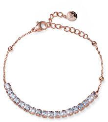 Bronzový elegantní náramek s krystaly Swarovski Raise 32284RG