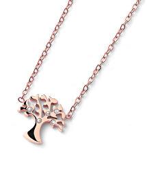 Bronzový náhrdelník Strom života Flourish 12153RG