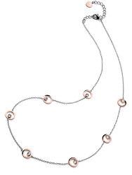 Dlhý oceľový bicolor náhrdelník Them 11917