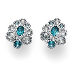 Elegantní náušnice s tyrkysovými krystaly Keen 22704R