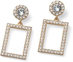 Elegantní pozlacené náušnice s krystaly Swarovski Picture 22910G