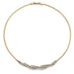 Luxusní pozlacený náhrdelník Twisty 12033G