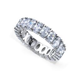 Luxusní stříbrný prsten s krystaly Genuine Oval 63258