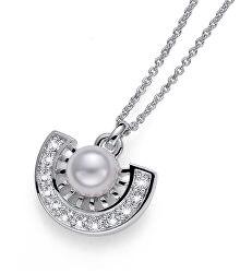 Náhrdelník s krystaly a perlou Cleo 11955