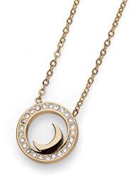 Pozlátený náhrdelník s kryštálmi Little Moon 11956G