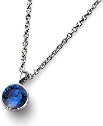 Náhrdelník s modrým krystalem Ocean Uno 11740 207