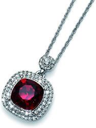 Náhrdelník s vínovým krystalem Autentic 11335 208