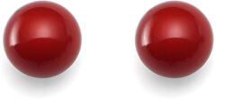 Tmavě červené náušnice Combi Dark Coral Red 21025 DRED