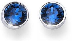 Náušnice pecky s modrými krystaly Ocean Uno 22623 207