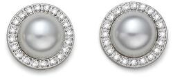 Náušnice kôstky s perličkami 22855