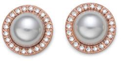 Náušnice kôstky s perličkami 22855RG