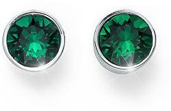 Náušnice pecky se zelenými krystaly Ocean Uno 22623 205