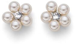 Trblietavé náušnice s perlami Flower Pearl 22774