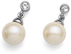 Náušnice s perlou Swarovski 22559 CRE