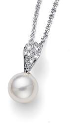 Nežný náhrdelník s perlou Pearl Simple 12066