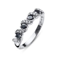 Originální prsten s krystaly Paso 63236 BLA