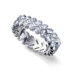 Originální stříbrný prsten s krystaly Legend 63260