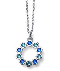 Oslňující náhrdelník s krystaly City 12124 BLU