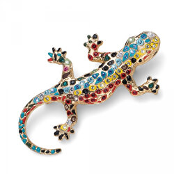 Pozlacená brož s krystaly Gaudí Drac 58045G