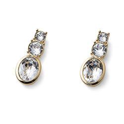 Pozlacené náušnice s krystaly Swarovski Company 22907G