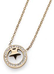 Pozlacený náhrdelník s krystaly Little Star 11957G