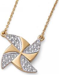 Pozlacený náhrdelník s krystaly Ocean Turb 11722