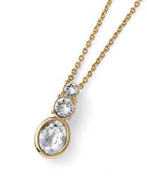 Pozlacený náhrdelník s krystaly Swarovski Company 12146G