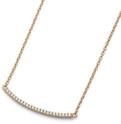 Pozlacený stříbrný náhrdelník Step fine 61152G